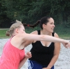 Damen und weibliche A Jugend beim Beachen